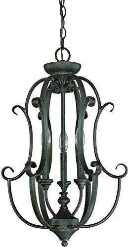 - Craftmade 24233-MB 3 Light Foyer Chandelier, 23.75