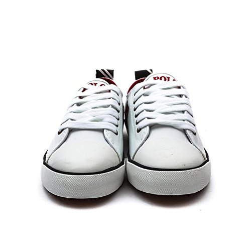 Polo Ralph Lauren Polo Falmuth Low White Leather Junior Trainers White