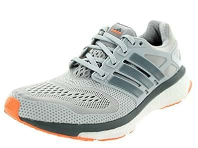 Adidas Women's Energy Boost Esm Solid Grey/Grey/Flash Orange Running Shoe 5 Women US