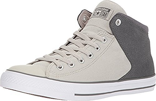 Converse Unisex Chuck Taylor All Star High Street Hi-Top, Pale Gray/Thunder/White, 12 M US