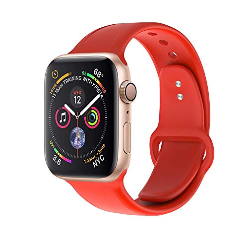 Towiph Compatible with Apple Watch Band 38mm 40mm Soft Silicone iwatch Band 40mm 38mm Series 3 4 2 1 Woman Man Sport Smartwatch Band Replacement with Free Apple Watch Case