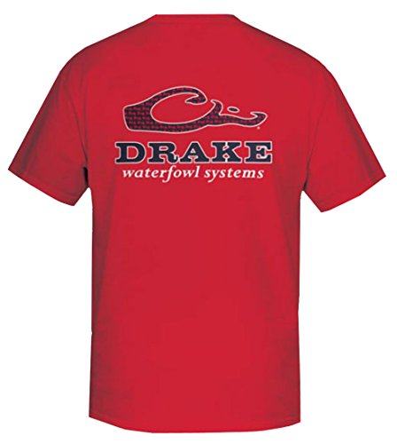 Drake Waterfowl Game Day Bow Tie Short Sleeve T-Shirt-Red-xl (Drakes Print Tie)