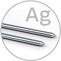 Electrodos de plata de varillas maciza para colloimed