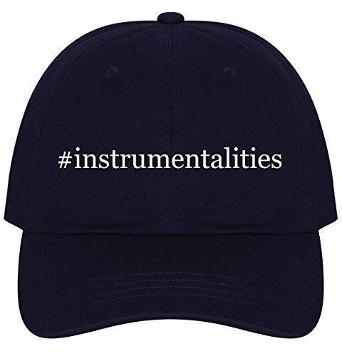 The Town Butler #Instrumentalities - A Nice Comfortable Adjustable Hashtag Dad Hat Cap, Navy, One Size