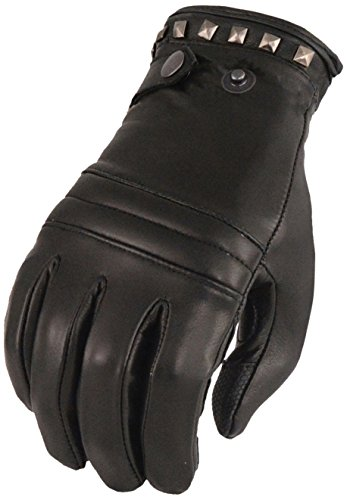 Milwaukee Leather Women's Lthr Thermal Lined Glove w/Studding Detail-Black-Small