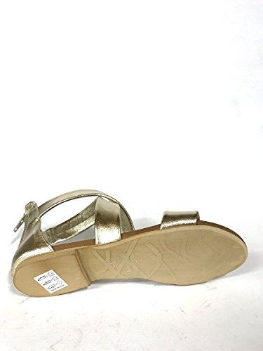 ZETA SHOES - Sandalias de vestir de Piel para mujer dorado
