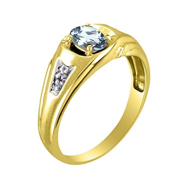 Diamond-Aquamarine-Ring-14K-Yellow-or-14K-White-Gold