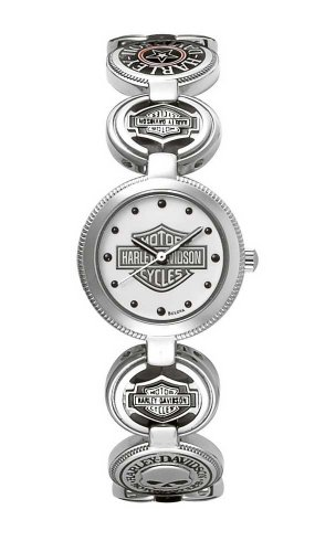 Harley-Davidson Ladies Charm Bracelet Watch by Bulova
