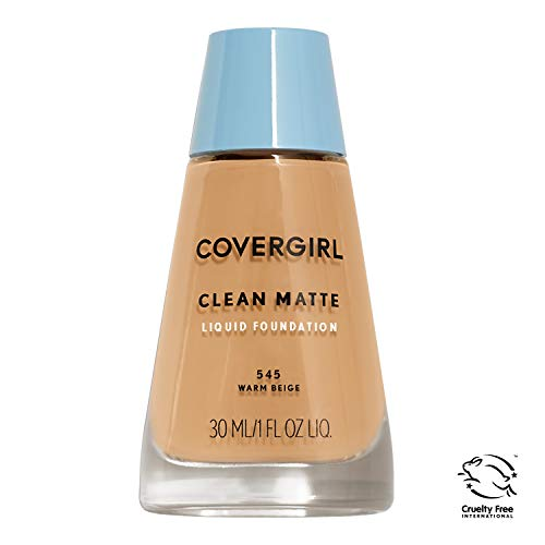 COVERGIRL Clean Matte Liquid Foundation Warm Beige 545, 1 oz (packaging may vary)