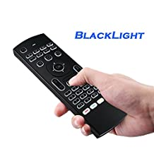 SSA Air mouse, 2.4G Backlit Mini Wireless Keyboard & infrared Remote Control,With 3-Gyro and 3-Gsensor, Best for Android tv box, HTPC, IPTV, PC, Smart Phone, Xbox, Pad and More Device.