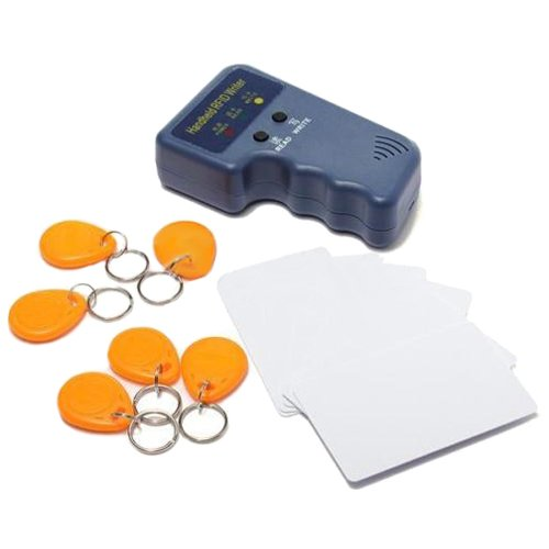 SODIAL(R) RFID 125KHz EM4100 EM410X ID Card Copier Duplicator with 6 Writable Tags 6 Cards
