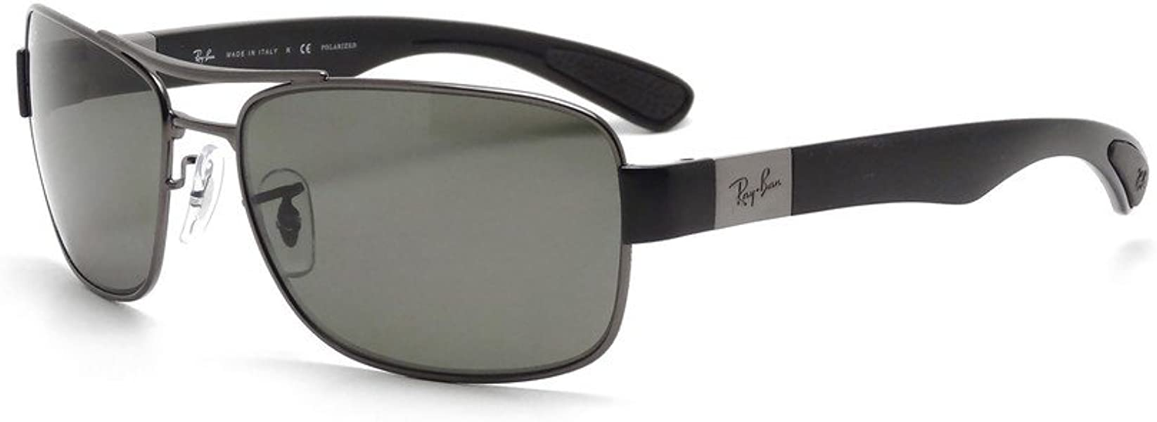 3e0c58ea54d Ray Ban RB3522 004 9A 64mm Gunmetal Polarized Green Sunglasses Bundle-2  Items. Back. Double-tap to zoom