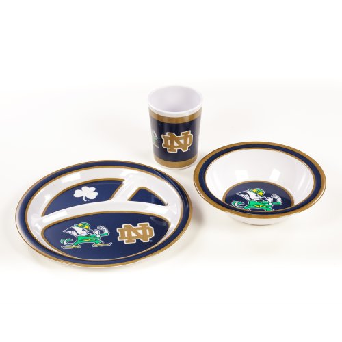 BSI NCAA Notre Dame Fighting Irish Kid's Dish Set (3-Piece) by BSI
