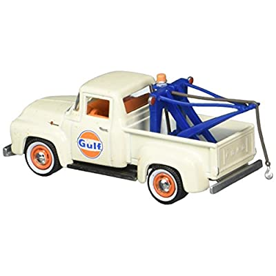 Greenlight 1: 64 Running On Empty Series 4 - 1956 Ford F-100 with Drop-in Tow Hook - Gulf Oil Diecast Vehicle: Toys & Games