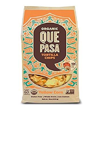 Que Pasa Organic Tortilla Chips, Yellow, 16 Ounce