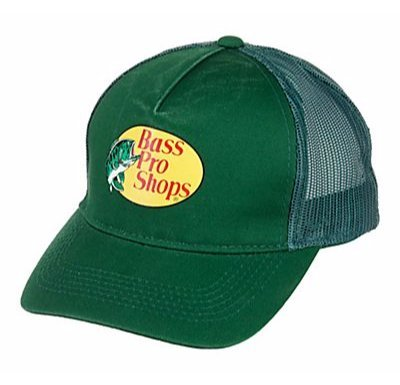 Bestsbrands  Authentic Bass Pro Shops Logo Mesh Cap For Kids And Youth Adjustable  Size Kids   Youth  Dark Green