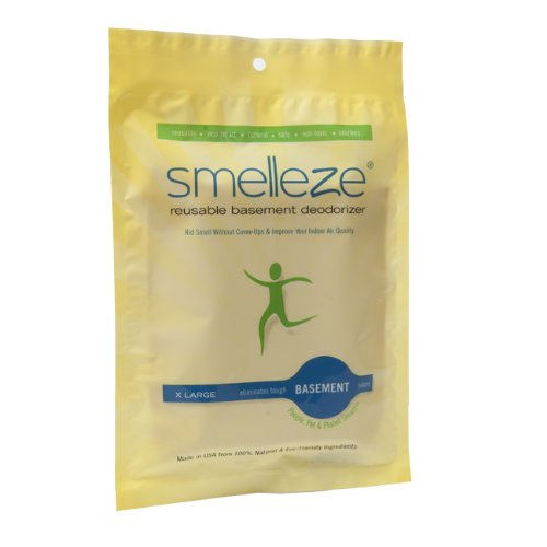 SMELLEZE Reusable Basement Odor Removal Deodorizer Pouch: Rids Musty Smell Without Fragrance in 150 Sq. Ft. by SMELLEZE (Image #6)