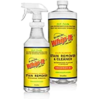 Whip-It All Natural Enzyme Cleaner Stain Fighting Kit - Professional Strength Stain Remover Spray 32oz and Concentrate Multi-Purpose Stain Remover 32oz - Made in the USA