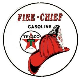 Texaco Fire Chief Tin Sign 12 x 12in (Fire Tin Chief)