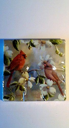 Cardinals and Dogwood Cocktail Napkins