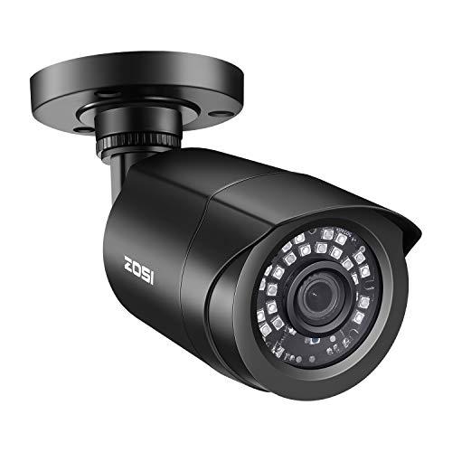 ZOSI 2.0MP FHD 1080p Security Camera Outdoor/Indoor (Hybrid 4-in-1 HD-CVI/TVI/AHD/960H Analog CVBS),24PCS LEDs,80ft…