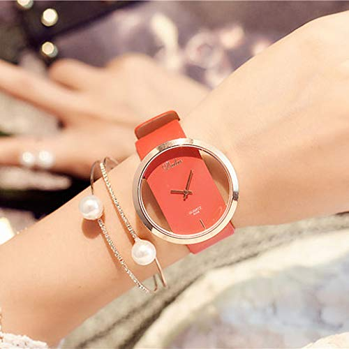 !!!Kacowpper Fashion Men's Women's Classic Casual Quartz Watch Leather Watches ()