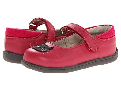 New See Kai Run Mabel Berry Red Mary Jane with Kitty Cat   Velcro Closure  Toddler 86905b8ef7ee