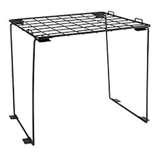 Stackable Locker Shelf (Black) by The Locker Dudes