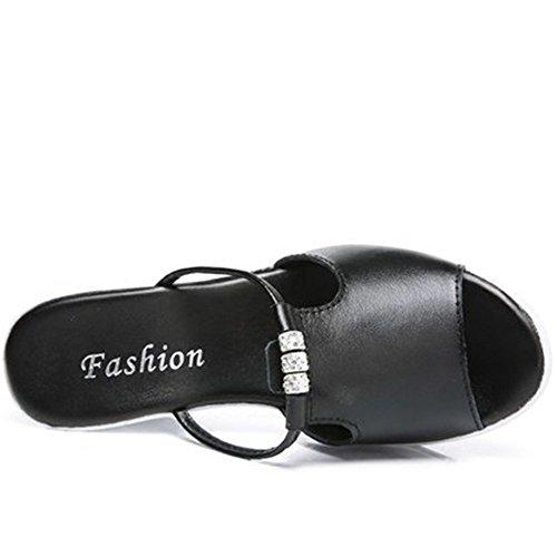 de EU36 Pantuflas rutschigen Mujer Pez tamaño 5 con CN35 diamante nbsp;colores boca Zapatillas opcional 2 de suave sandalias Pantuflas grosor UK3 Verano opcional B a Slope p7qdw18p