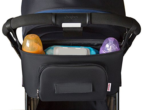 Universal Baby Stroller Organizer Bag,Fits All Strollers,Diaper Bag with Cup Holders and Shoulder Strap,Extra Storage Space for Organize The Baby Accessories and Your Phones by Majestices