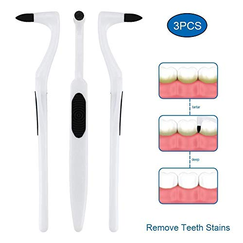 (Tartar Teeth Stain Remover, Dental Plaque Eraser, Tooth Calculus Removal Kits, Dentary Stains Scraper Removing, Whitening Polishing Tool [Economic & Works Well, But Not Substitute For Dentist Visit])