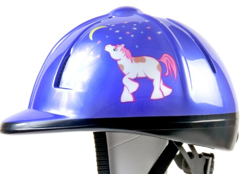 Devon-Aire Youth Equestrian Riding Helmet, Purple Pony