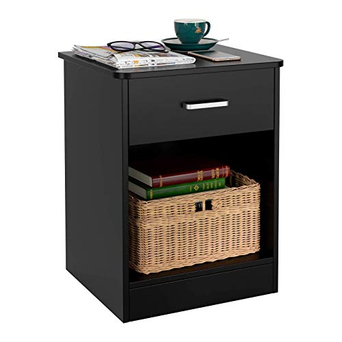 HOMFA Nightstand 2-Tier, Tall 1-Drawer End Table Side Table File Cabinet Storage Table for Home Office Bedside Cabinets…