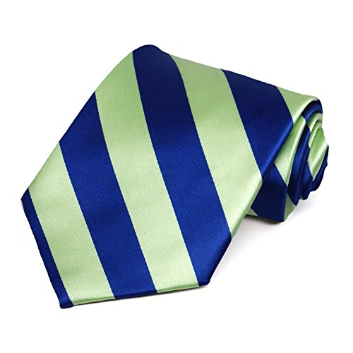 Royal Blue and Lime Green Striped Tie ()