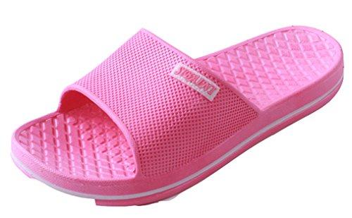 Blubi Mujeres Candy Color Open Toe Comfort Shower Y Sandalia Junto A La Piscina Beach Sandal Rose