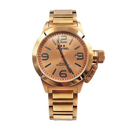TW Steel Canteen 40mm Rose Dial Rose Gold-plated Unisex Watch TW303 (Rose Gold Plated Watch)