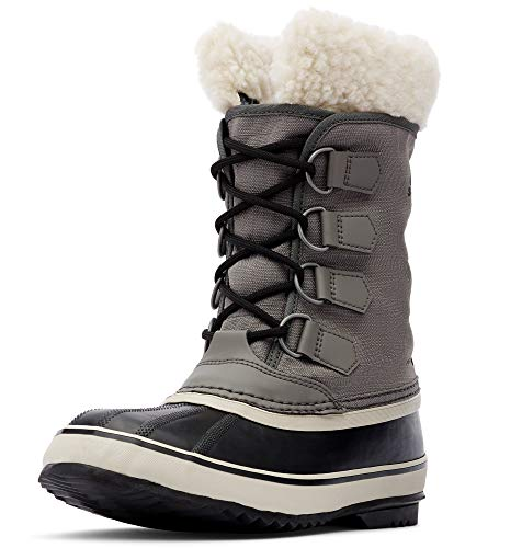 Sorel - Women's Winter Carnival Waterproof Boot for Winter, Quarry/Black, 8 M US