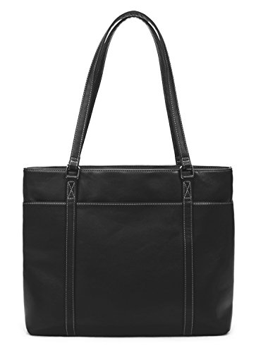 Overbrooke Classic Womens Tote Bag for Laptops  up to 15.6 Inches, (Large Genuine Leather Backpack Bag)