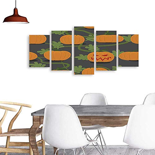 (UHOO Paintings Combination DecorativeScary Halloween Pumpkin Among Plantation of Pumpkins Pumpkin FA. Bedroom,Hotel and so)