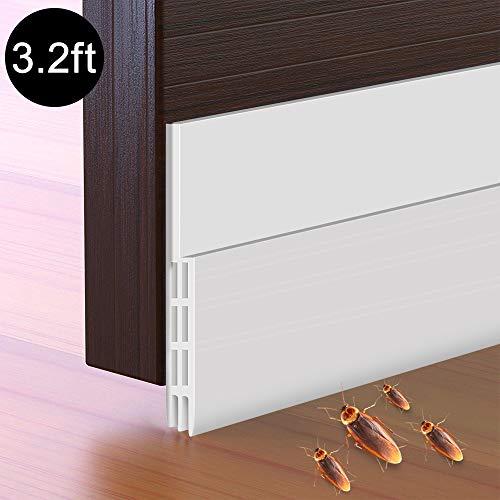 Door Weather Stripping,Mopoin Door Draft Stopper Door Strip Guard,Door Sweeps for Exterior Doors,Under Door Noise Stopper and Bugs Stopper,2 Width X 39 Length?White?