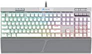 Teclado Mecânico Gamer Corsair K70 RGB MK.2 SE Mecânico Switch MX Speed US Branco - CH-9109114-NA
