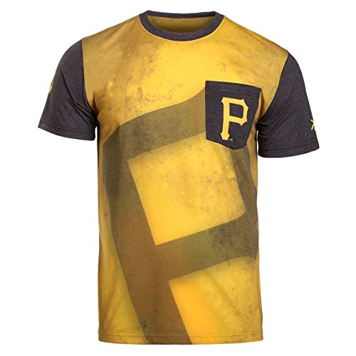 2016 KLEW MLB Baseball Mens Cotton Poly Pocket Logo Tee T-shirt - Pick Team (Pittsburgh Pirates, Medium)