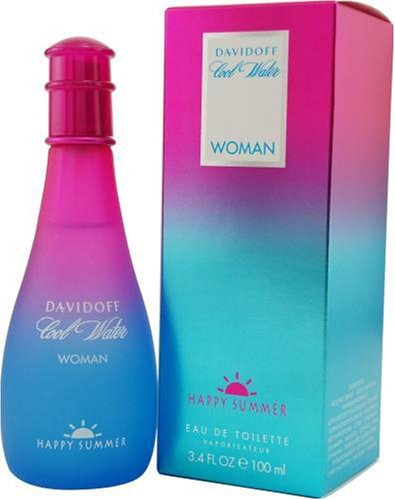 Cool Water Happy Summer By Davidoff For Women, Eau De Toilette Spray, 3.4-Ounce Bottle -