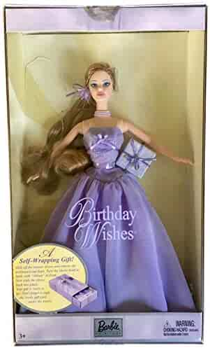 56f79b22e9 Barbie Birthday Doll Lavender Birthday Wishes Costume Collectible Gift 2003  New