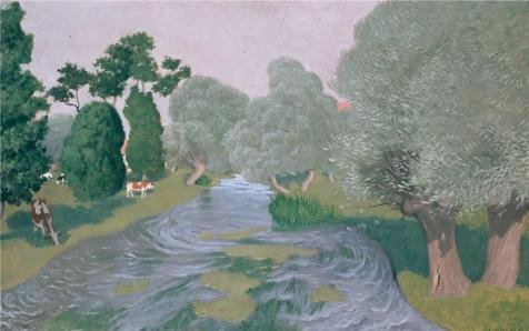 'Landscape Arques-la-Bataille,1903 By Felix Vallotton' Oil Painting, 20x32 Inch / 51x81 Cm ,printed On Perfect Effect Canvas ,this High Definition Art Decorative Prints On Canvas Is Perfectly Suitalbe For Home Theater Decor And Home Gallery Art And Gifts