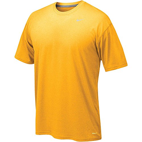 Nike Legend Gold Short Sleeve Performance Shirt, - Gold Nike Shorts Training