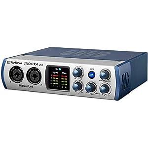 PreSonus Studio 24c 2×2, 192 kHz, USB-C Audio Interface, 2 Mic Pres-2 Line Outs