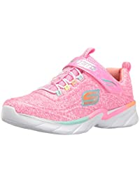 Kids Swirly Girl Gore and Strap Sneaker (Little Kid/Big Kid/Toddler)