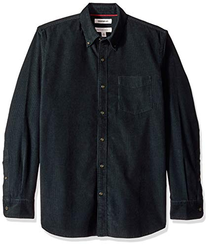 Goodthreads Men's Standard-Fit Long-Sleeve Corduroy Shirt, -navy, Medium