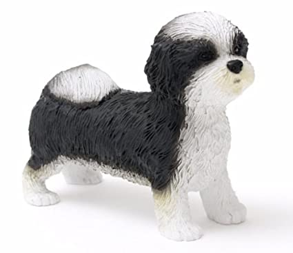 Amazoncom Shih Tzu Black White Puppy Cut Figurine Home Kitchen
